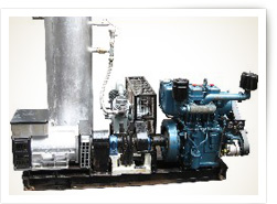 DIESEL ENGINE DRIVEN RECIPROCATING COMPRESSOR + POWER ALTERNATOR