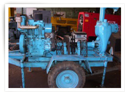 DIESEL ENGINE DRIVEN DEWATERING PUMP + 3 PHASE POWER ALTERNATOR