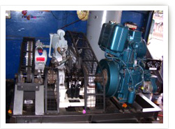 DIESEL ENGINE DRIVEN COMPRESSOR + HIGH PRESSURE PISTON PUMP